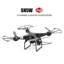 EBOYU(TM) SH5W 2.4G 4CH 6-Axis Wifi FPV Drone 0.3MP Camera Headless Mode 3D-flip RTF RC Quadcopter Drone