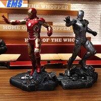 20 Avengers Infinity War Superhero MK43 Statue Iron Man Bust Full Length Portrait GK 1/4 Action Figure Model Toy BOX 50 CM Z428