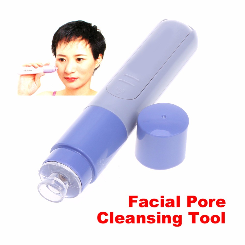 1Pcs Mini Electric Facial Pore Cleanser Face Massager Deep Cleaning Blackhead Remover Acne Treatments Beauty font