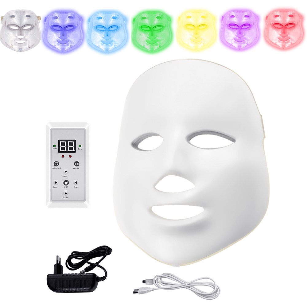 Electric LED Facial Mask Beauty Photon Therapy 7 colors Light Skin Care Rejuvenation Wrinkle Acne Removal Face Beauty Spa Electric LED Facial Mask Beauty Photon Therapy 7 colors Light Skin Care Rejuvenation Wrinkle Acne Removal Face Beauty Spa