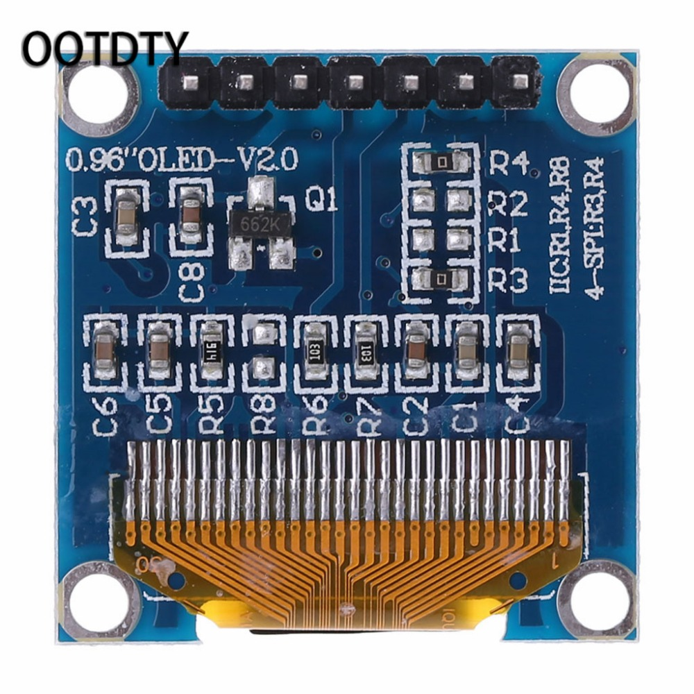 OOTDTY 0.96 inch OLED Module Blue Color 128X64 LCD Display SPI Module DIY For Arduino