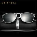 VEITHDIA Unisex Retro Aluminum Magnesium Brand Sunglasses Polarized Lens Vintage Eyewear Accessories Sun Glasses Men/Women 6630