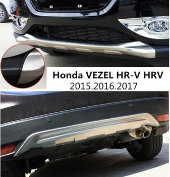 For Honda VEZEL HR-V HRV 2015.2016.2017 BUMPER GUARD BUMPER Plate High Quality Stainless Steel Front+Rear Auto Accessories