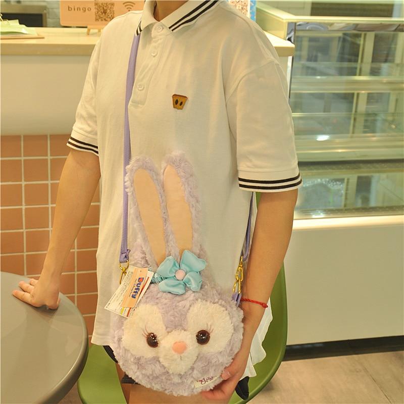 Cute Duffy Bear New Friends Stellalou Long Ear Rabbit Plush Messenger Bag Cartoon Rabbit for girl