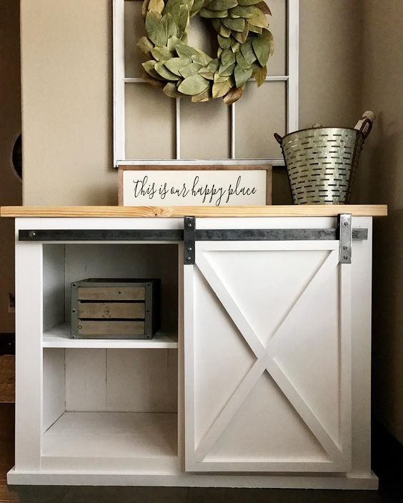 DIYHD 39 Wooden Cabinet Sliding Barn Door Hardware Mini