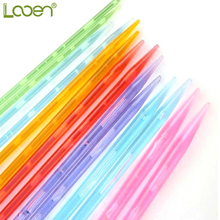 14 Pcs Looen Multicolor High Quality Plastic Crystal Knitting Needles Weaving Tools Acrylic Needle For Scarf Sweater