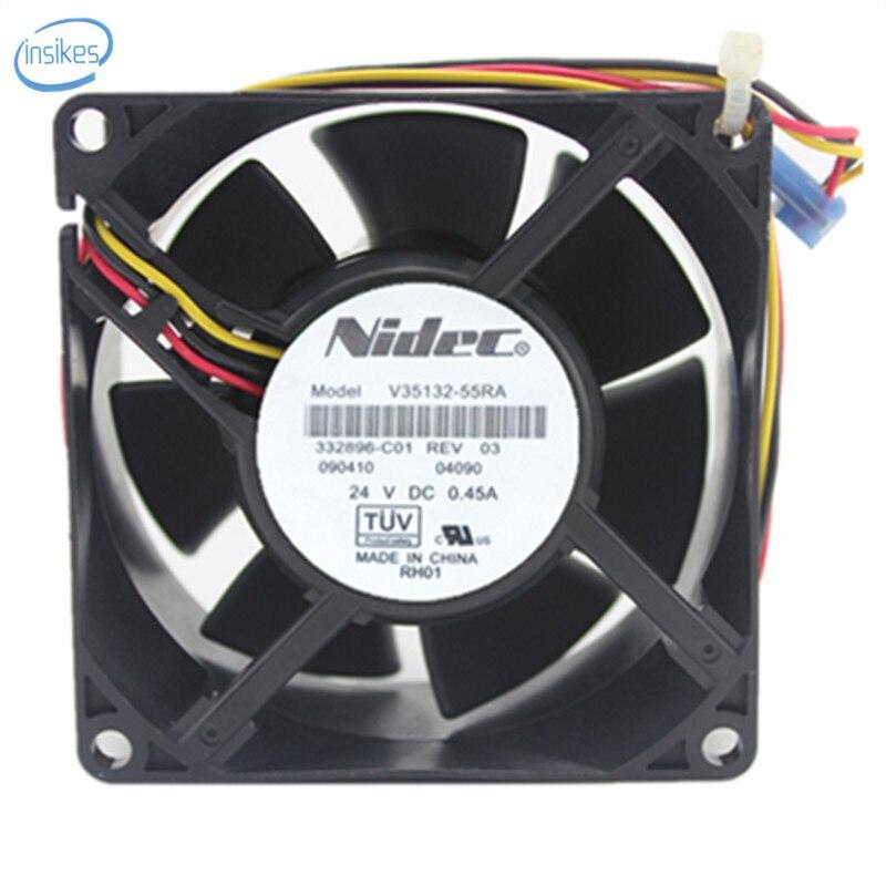 V35132-55RA Inverter Cooling Fan DC 24V 0.45A 8038 80*80*38mm 3 Wires