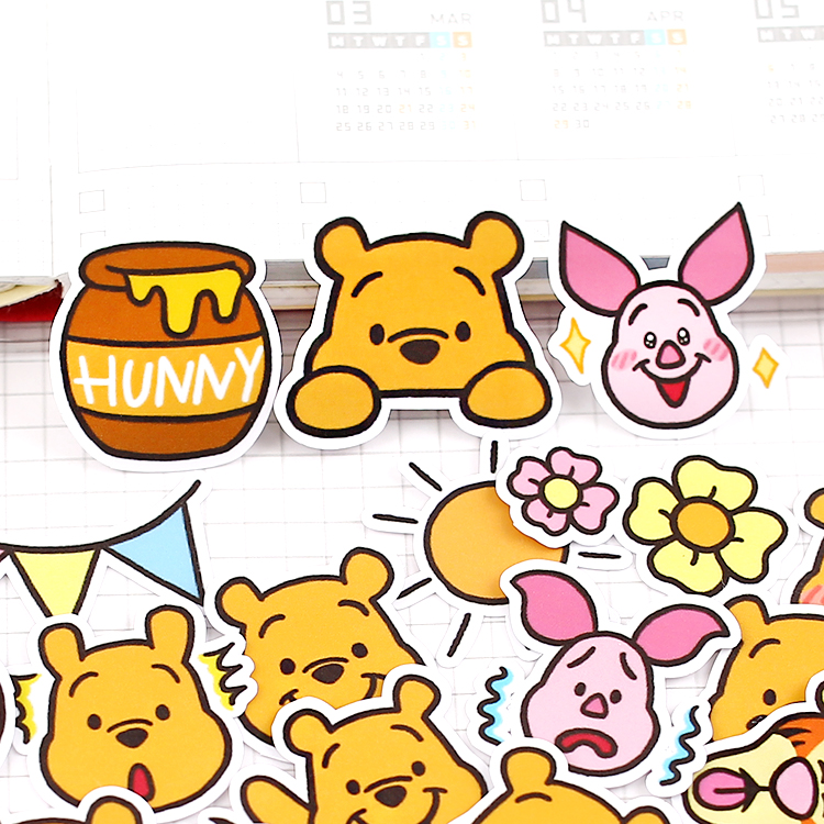 39pcs/pack Cute Bear Avatar Stickers For Car Styling Bike Motorcycle Phone Book Travel Luggage Toy Funny Sticker Bomb Decals