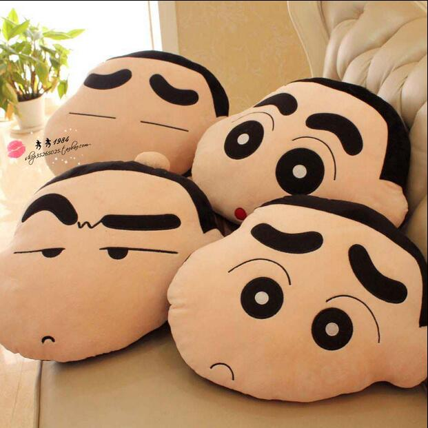 Gift For Kids 1pc 45cm Funny Expression Crayon Shin Chan Cute Plush Hold Doll Pillow Cushion Novelty Children Stuffed Toy