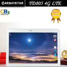Carbaystar td805 4g lte android 6.0 10.1 pulgadas tablet pc mt8752 octa core 4 GB RAM 64 GB ROM 5MP IPS Tablets pc Oro, WhiteBlack