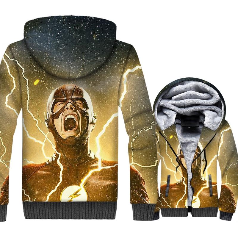 Men 39 s Sweatshirts Autumn Winter Zipper Coat Male 2018 New Fashion Hip Hop Hoodies For Men Lightning THE FLASH Harajuku 3D Hoddie in Hoodies amp Sweatshirts from Men 39 s Clothing