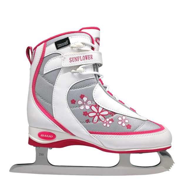 2018 NEW Kids Girls Women Teenager Professional Ice  Figure Skating Shoes With Ice Blade PVC Waterproof Mesh Shock Absorption
