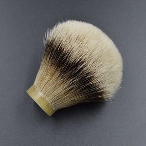 Image 2 - 26mm/67 finest silvertip Badger hair Men  beard brush head shaving brush knot for 26mm handle