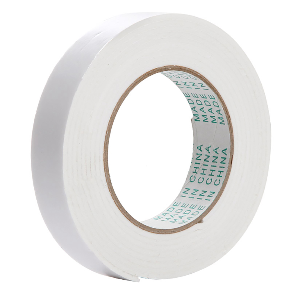 18mm Double Sided White Foam Adhesive Sticky Tape for Car Fix Home Repair