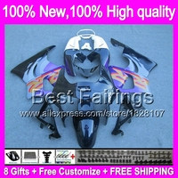 Fairing For HONDA CBR919RR Purple black 98 99 CBR900RR 98 99 35B6 CBR 919RR CBR 919 RR CBR919 RR 1998 1999 Black purple +decal