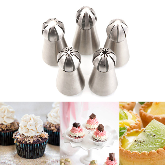 New 1pc Pastry Tips Set Stainless Steel Russian Nozzles Fondant Icing Piping Cake Decorating