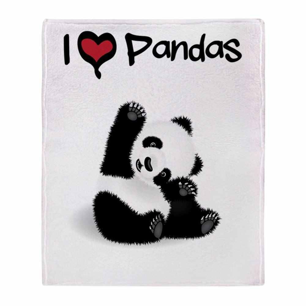 Personalized Bayi Panda Lembut Bulu Melempar Selimut Melempar Lebih Dari Sofa Tempat Tidur Selimut Rumah Tekstil