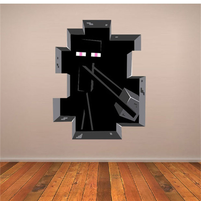 Latest Game Minecraft Enderman Wall Stickers Home Decor Minecraft Wallpaper  Party Decorations Decal Sticker On Wall Part 28
