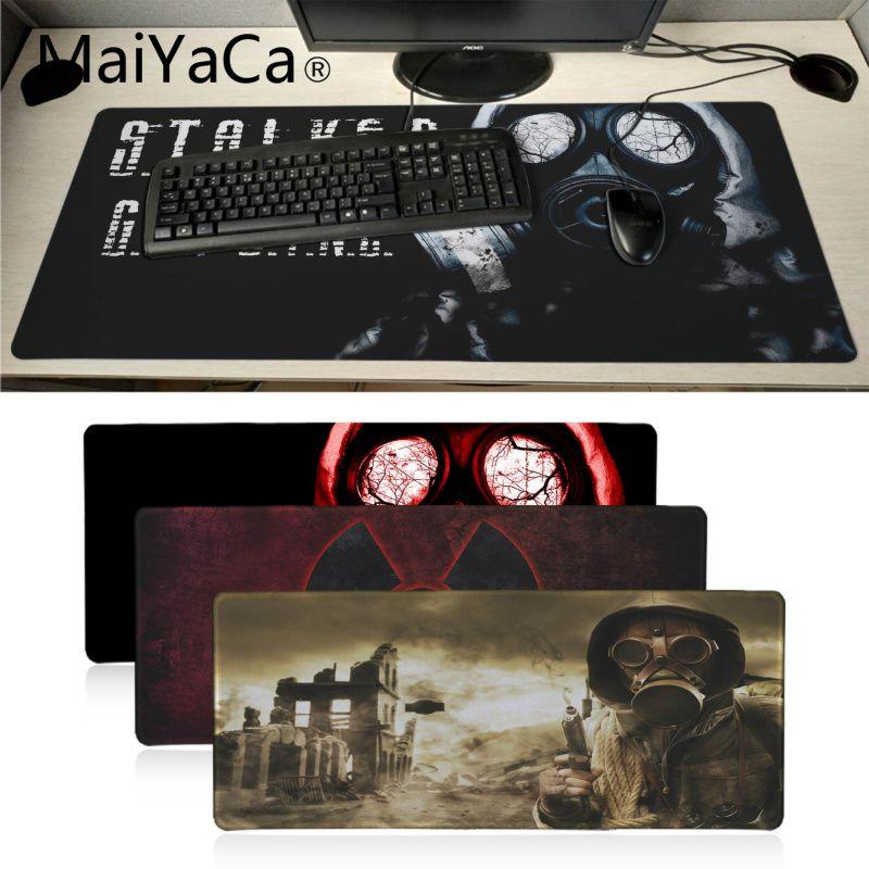 MaiYaCa Boy Gift Pad Stalker Gamer Mask Logo Durable Rubber Computer Mats Super Large Game Gamer Gaming Mouse Pad Keyboard Mat