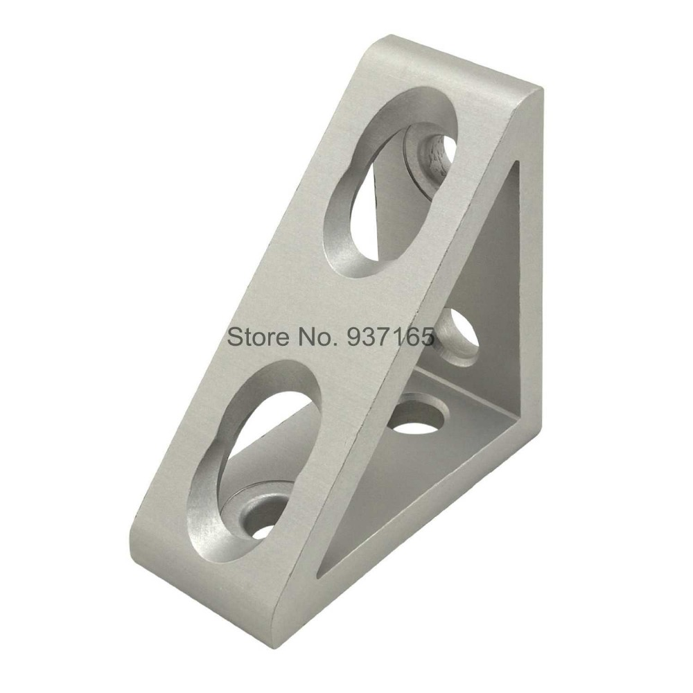 4 hole Inside Guesset Corner Angle L Brackets Fastener Fitting Round Hole for 4545 45x45 Aluminum Profile Extrusion 4545 4 hole inside guesset corner angle l brackets fastener fitting round hole for 4545 45x45 aluminum profile extrusion 4545