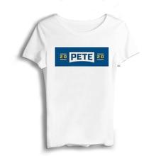 Pete Buttigieg Men T Shirts Wholesale Short  Casual Modal Mens Fashion 2019 O-Neck JerseyHigh Street T-shirt