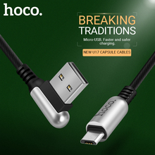 hoco cable usb a to micro usb right angle reversible connector fast charging cord data sync wire 2.4a charger for android phones все цены