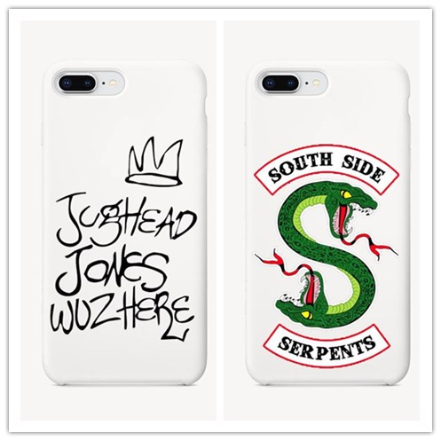 American TV Riverdale Jughead Jones Woz Here White Hard Phone Case Cover For iPhone 5S SE 6 6S Plus 7 7Plus 8 X XR XS MAX