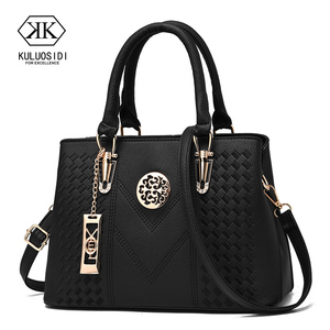 Image 1 - Embroidery Messenger Bags Women Leather Handbags  Bags for Women 2019 Sac a Main Ladies Hand Bag
