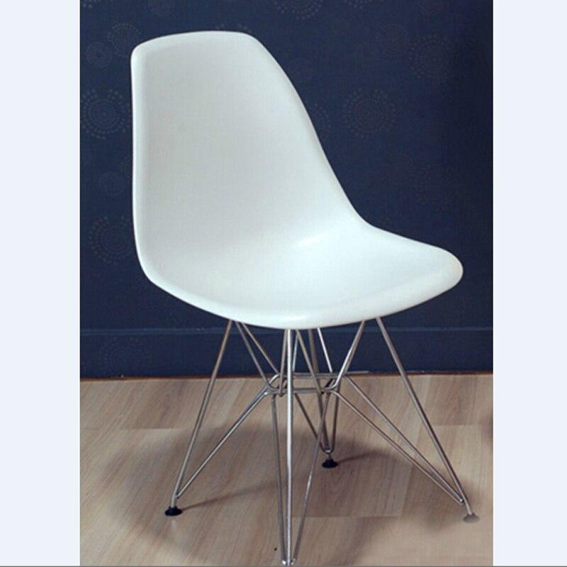 € 564.99 |6 piezas para un lote de sillas de comedor informales PP sillas  creativas modernas patas de acero Color blanco en Sillas de comedor de ...