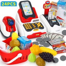 Kid Toy Cash Register With Checkout Scanner ,Credit Card Machine Pretend Play Gr
