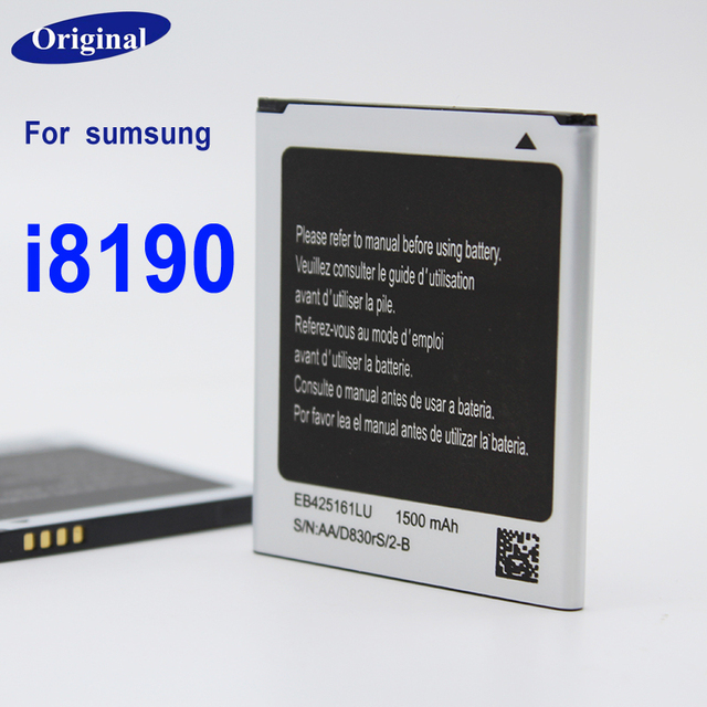 100% Original Replacement Battery For Samsung Galaxy S3 Mini S3Mini GT-I8190 I8190N EB425161LU 2100mAh