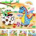 HAPPYXUAN 20 diseños/lot 21*26 cm Grande de Espuma Eva Etiqueta de la Serie X de Dibujos Animados de Animales Rompecabezas Educativos Kits para Los Niños