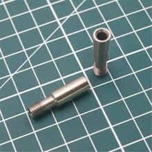 1 pcs Creality CR-10 3D parçaları 1.75mm Boğaz Bowden Teflon Uzun Iplik Tüp 3D Yazıcılar Parçaları paslanmaz Metal ısıtıcı kırma...