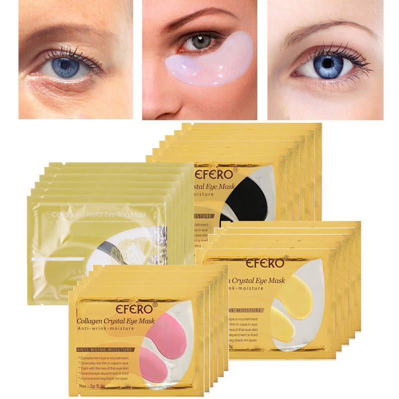 30pcs=15pair Collagen Crystal Eye Mask Moisture Anti-Ageing Eyelid Patch Care Mask For Face Mask Eye Patches for the Eyes Care