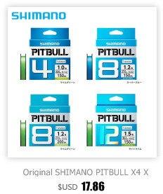 Original shimano pitbull x4 x8 x12 trançado