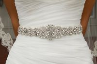 Free shipping 2016 hot Wedding Bridal Sash Belt Crystal Rhinestone Dress Sash Prom Sash Wedding Sash Belt