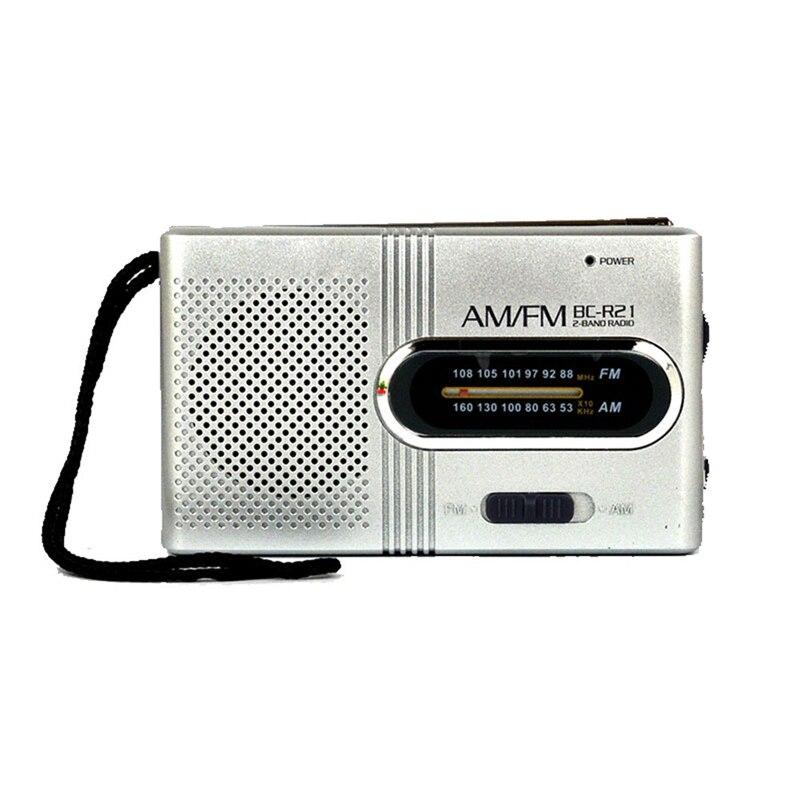 Radio FM Neueste Tragbare Mini-tasche AM/FM Teleskopantenne Batteriebetriebene Radio Kits Empfänger LED eingebauten Lautsprecher Dec8