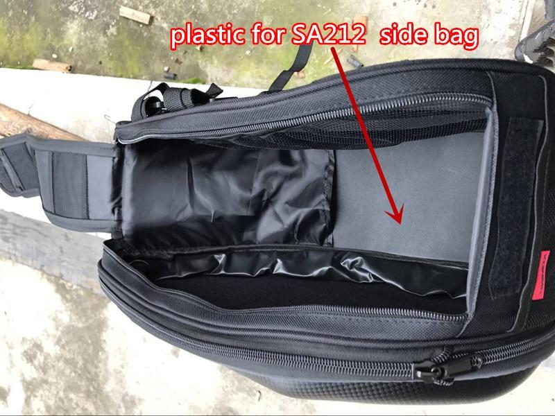 2x SA212 motorcycle side bag helmet bags 's plastic