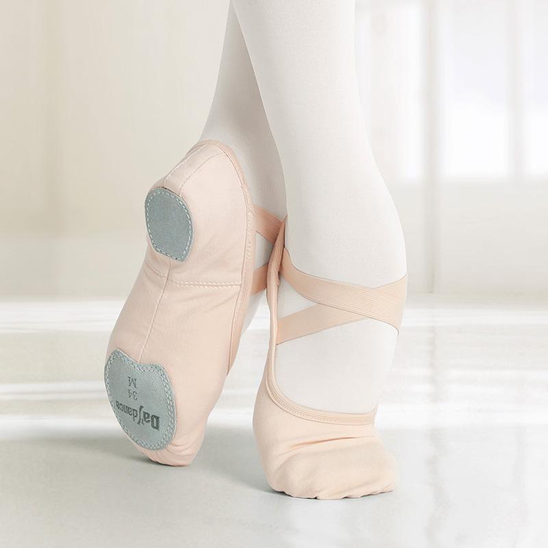 Ballet Shoes Adult Professional High Stretch Canvas Ballet Dance Slipper Split Sole Ballerina Slip On Practice Shoes For Dancing
