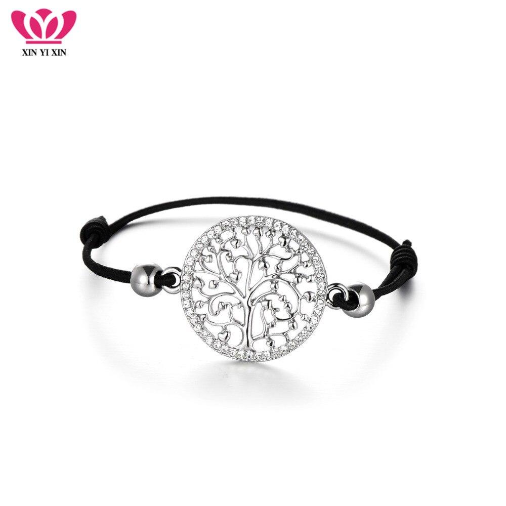 Tree Of Life Charms Bracelet for Women Elastic Cord Bracelet Adjustable Crystal Brazalete encantado 2018 Dropshipping Gift