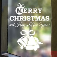 Christmas glass stickers shop decoration window bell wall stickers
