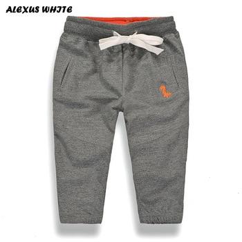 fd71d027 Весенне-осенние штаны для мальчиков и девочек, повседневные длинные  Хлопковые Штаны-шаровары для девочек с эластичной резинкой на талии, де.