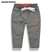 Spring Autumn Boys Girls Pants Casual Full Length Cotton Harem Pants Girl Elastic Waist Children Clothing Kids Trousers for Boy
