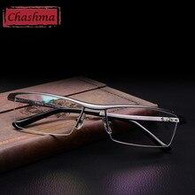 Chashma Neue Aluminium Magnesium Top Qualität Mens Brille Legierung Rahmen Halbrand Brillen Frames für Männer