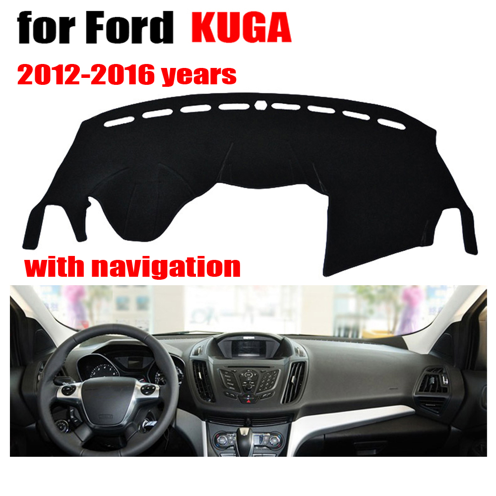 Car dashboard covers mat for ford escape kuga with navigation 2012 2016 left hand drive dashmat dash covers auto accessories