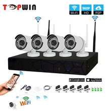 hot deal buy 4ch 1080p hd wireless nvr kit p2p 960p indoor outdoor ir night vision security 1.3mp ip camera wifi cctv system