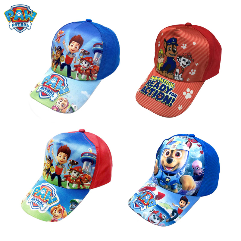 Paw Patrol Cotton Cute Children's Summer Hats Caps Headgear Chapeau Puppy Print Party Kids Birthday Gift Toy Free Delivery