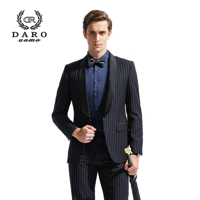 US $99 0 |(Only Accept Custom Tailor Service) DARO Men's Suits Mens Blazer  Slim Stripe Casual Jacket Party Dress Custom Tailor DARO8826-in Suits from