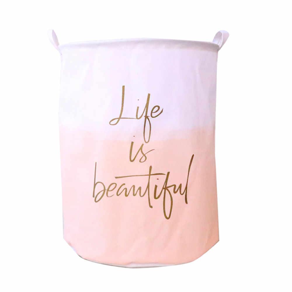 Haute capacité pliant boîte de rangement imperméable à l'eau toile feuilles blanchisserie vêtements panier à linge panier de rangement livraison directe s10 35