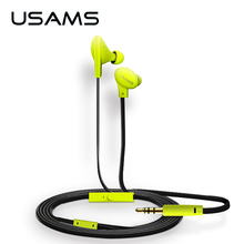 USAMS 1.2m In-Ear Wired 3.5mm Colorful Doug Earphone Waterproof Sport Earphones Earbuds with Microphone for iPhone Samsung LG